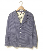 BEN DAVIS(ベンデイビス)の古着「ヒッコリーフォレスタージャケット」|ブルー×ホワイト
