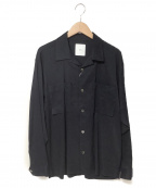 Luis(ルイス)の古着「オープンカラーシャツ」|ブラック