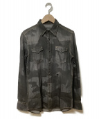 HYDROGEN(ハイドロゲン)の古着「デニムシャツ」 ブラック