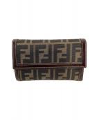 ()の古着「3つ折り財布」|ベージュ×ブラウン