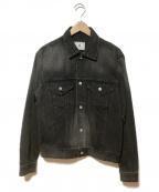 Soe(ソーイ)の古着「ウェスタンデニムジャケット」 ブラック