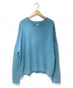 E.TAUTZ(イートーツ)の古着「コットンスウェットシャツ」|ブルー