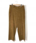 digawel(ディガウェル)の古着「コーデュロイワイドパンツ」|ベージュ