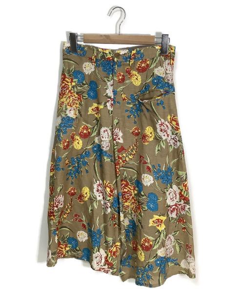 Ys(ワイズ)Ys (ワイズ) [OLD]ロングスカート マルチカラー サイズ:1 ボタニカル柄の古着・服飾アイテム