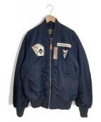 ()の古着「フライトジャケット」|ネイビー
