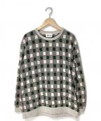KUON(クオン)の古着「別注吉野格子プルオーバーシャツ」|グリーン×ベージュ