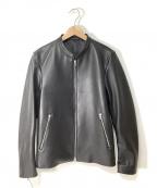 LIDnM()の古着「シングルライダースジャケット」|ブラック