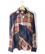 Vivienne Westwood man()の古着「オジークラークシャツ」 レッドマルチカラー