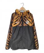 BUENA VISTA(ブエナビスタ)の古着「TIGER pri WIND TEC PARKA」|オレンジ×ブラック