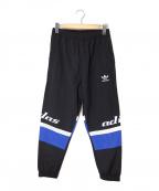 adidas Originals(アディダスオリジナル)の古着「TREFOIL GRAPHIC PACK PANTS」|ブラック×ブルー