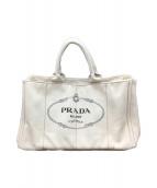 PRADA (プラダ) トートバッグ ホワイト カナパ B1872B