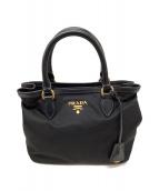 PRADA(プラダ)の古着「2WAYハンドバッグ」|ブラック