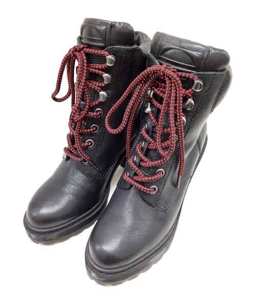 MARC JACOBS(マークジェイコブス)MARC JACOBS (マークジェイコブス) ミドルブーツ ブラック サイズ:38 M9002155 定価65500円の古着・服飾アイテム