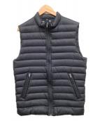 lucien pellat-finet(ルシアンペラフィネ)の古着「ジップダウンベスト」|ブラック