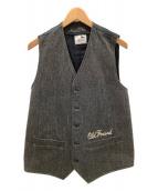 GANGSTERVILLE(ギャングスタビル)の古着「ベスト」|チャコールグレー