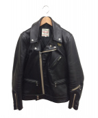 Lewis Leathers(ルイスレザーズ)の古着「ダブルライダースジャケット」 ブラック