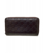 GUCCI(グッチ)の古着「ラウンドファスナー長財布」|ラベンダー
