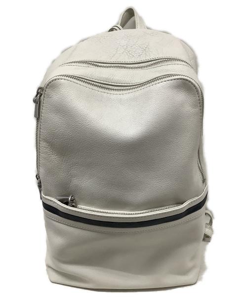 aniary(アニアリ)aniary (アニアリ) レザーリュック ホワイト UO-05000 参考価格60.500円 シュリンクレザーの古着・服飾アイテム