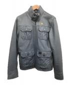 G-STAR RAW(ジースターロウ)の古着「レザージャケット」|グレー