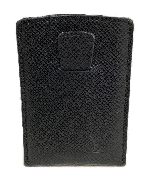 LOUIS VUITTON(ルイヴィトン)LOUIS VUITTON (ルイヴィトン) エテュイ・カルト・デヴィジット ブラック タイガ・アルドワーズ M30542 MI0090の古着・服飾アイテム
