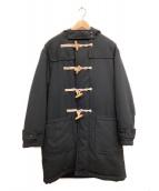 BEAMS(ビームス)の古着「中綿テックツイードダッフルコート」 ブラック
