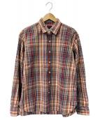 BRU NA BOINNE(ブルーナボイン)の古着「チェックシャツ」|レッド
