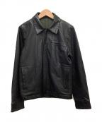 TMT(ティーエムティー)の古着「シングルライダースジャケット」 ブラック