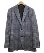 DURBAN(ダーバン)の古着「リネン混テーラードジャケット」|グレー