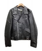 GOLDEN GOOSE DELUXE BRAND(ゴールデングースデラックスブランド)の古着「ラムレザーダブルライダースジャケット」|ブラック