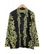 Sun Surf(サンサーフ)の古着「アロハシャツ」|ブラック×イエロー