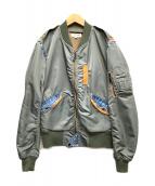 AVIREX(アビレックス)の古着「フライトジャケット」|カーキ×ブルー