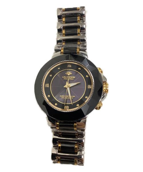 J.HARRISON(ジョンハリソン)J.HARRISON (ジョンハリソン) 腕時計 ブラック JH-024M ソーラー充電 ステンレススチールの古着・服飾アイテム