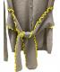 RED VALENTINO (レッドヴァレンティノ) ニットカーディガン グレー×イエロー サイズ:L 秋冬物 ウール:4800円