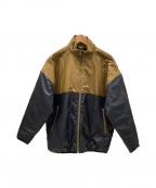 adidas Originals by HYKE(アディダスオリジナルスバイハイク)の古着「パデッドジャケット」 ゴールド×ブラック