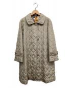 LEONARD(レオナール)の古着「中綿キルトコート」|ベージュ