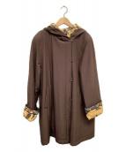 LEONARD(レオナール)の古着「シルク混中綿コート」|ブラウン×イエロー