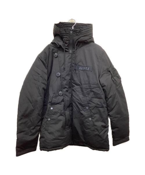 AVIREX(アヴィレックス)AVIREX (アヴィレックス) 中綿デッキジャケット ブラック サイズ:XL 冬物の古着・服飾アイテム