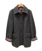 LEONARD(レオナール)の古着「カシミヤハーフコート」|グレー
