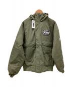 X-LARGE(エクストララージ)の古着「ナイロンパフジャケット」|オリーブ