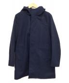 Adam et Rope(アダムエロペ)の古着「メルトンフードコート」|ネイビー