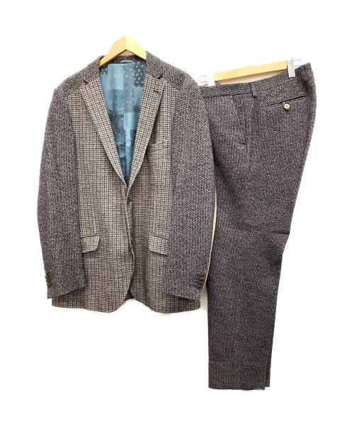 ETRO(エトロ)ETRO (エトロ) チェックセットアップ ネイビー サイズ:SIZE58 チェック 冬物 New Jerseyの古着・服飾アイテム