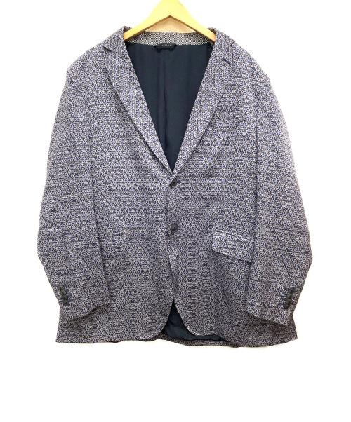 ETRO(エトロ)ETRO (エトロ) テーラードジャケット ネイビー サイズ:SIZE 56 花柄 オールシーズンの古着・服飾アイテム