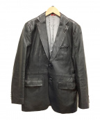 INTERMEZZO(インターメッツォ)の古着「レザージャケット」|ブラック