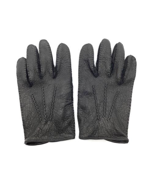 Dents(デンツ)Dents (デンツ) ペッカリーグローブ ブラック サイズ:8 1/2 猪豚革の古着・服飾アイテム
