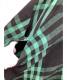 My Beautiful Landlet (マイビューティフルランドレット) オリジナルファブリックチェックビッグトレーナー ブラック×グリーン サイズ:SIZE 1 チェック:7800円