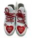 中古・古着 adidas (アディダス) TENNIS HU HUMAN MADE ホワイト×レッド サイズ:US 71/2 未使用品 by PHARRELL WILLIAMS TENNIS HU EF2392:11800円