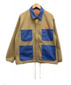 ()の古着「別注カバーコーチジャケット」|ベージュ×ブルー