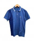 FRED PERRY()の古着「ポロシャツ」|ネイビー×ブルー