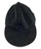 HENDER SCHEME(エンダースキーマ)の古着「tone cap corduroy fl-rc-ttc」|ブラック