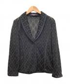 LEONARD(レオナール)の古着「ラメメッシュシルクジャケット」 ブラック